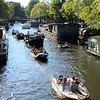 Lots of boat traffic on the canals