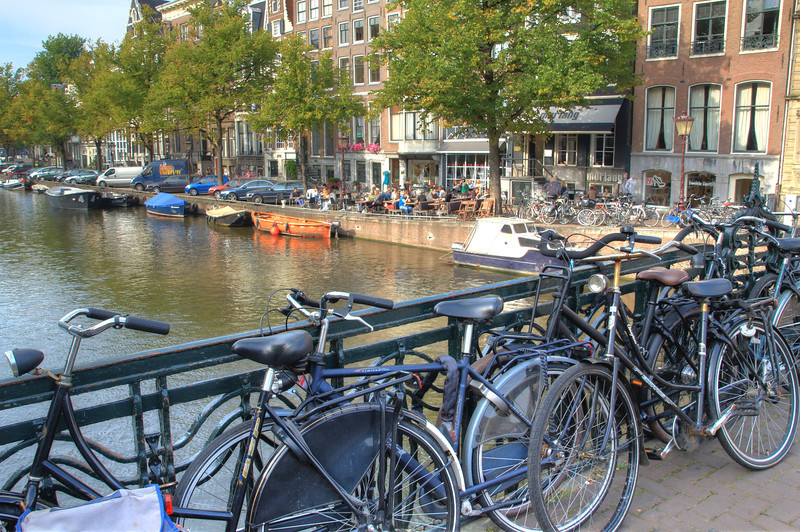 Bikes are EVERYWHERE in Amsterdam!