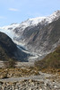 The Franz Josef glacier and valley below
