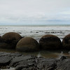 Moeraki Boulders. They're perfectly round boulders up to 6 feet in diameter. The big ones took four million years to create.