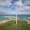 Kaikoura Peninsula. The pole is marking the path.