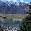 Looking down at Queenstown and the Remarkables