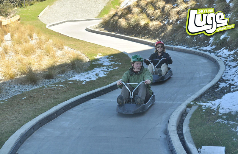 The luge was incredibly fun!