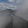 The smoke from the geothermal mud pits is so thick I couldn't even see Nikki 20 feet away.