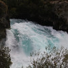 Huka Falls in Taupo. Huka Falls is near the start of the Waikato River, the longest in New Zealand. This particular waterfall keeps the eels that exist downstream from getting up into Lake Rotorua.