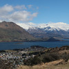 Looking down on Lake Wanaka from Mt. Iron