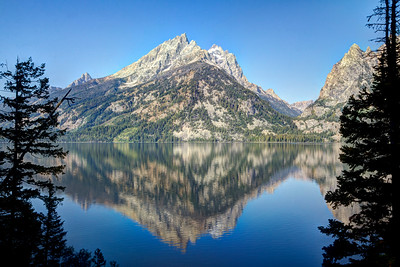 Grand Teton Mountains across Jenny Lake
