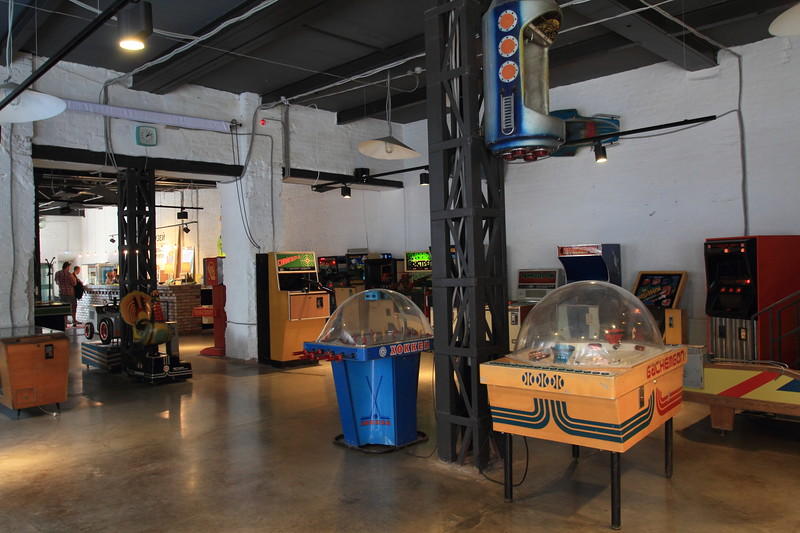 We also took a trip to the Museum of Soviet Arcade Machines.
