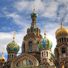 The Church of the Savior on Spilled Blood. This was built on the site where Czar Alexander II was assassinated. It's the only cathedral in St. Petersburg in the Russian style, as opposed to more European styles.