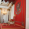 The throne of the czars in the Winter Palace