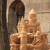 On the beach, there was a big sand castle festival. Some pretty cool sand castles were under construction