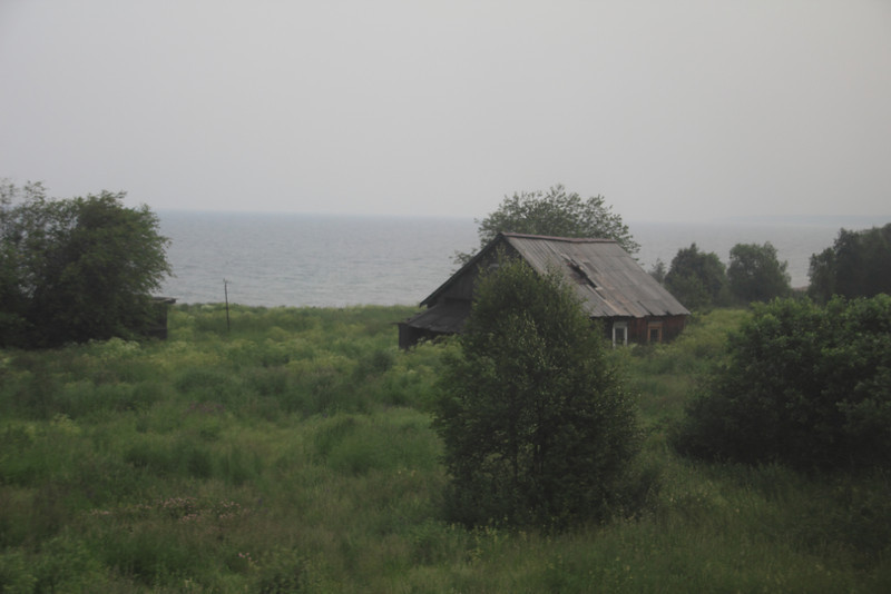 Cottage on the shore of Lake Baikal