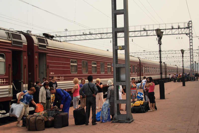 Lots of people were getting off at Irkutsk