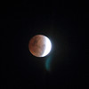 A full lunar eclipse! We were wondering what was up with the full moon, and it turns out we witnessed an eclipse.