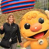 Nikki with Haechi, Seoul's mascot, who protects the city from fires, disasters, and the North.