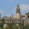 Looking back at Barcelona's historical district