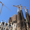 The Sagrada Familia. Construction began in 1902 and it's estimated it'll finally be done in 2026.