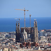 Sagrada Familia. The main tower, in the middle, is still under construction. It'll be taller than that crane when it's done!