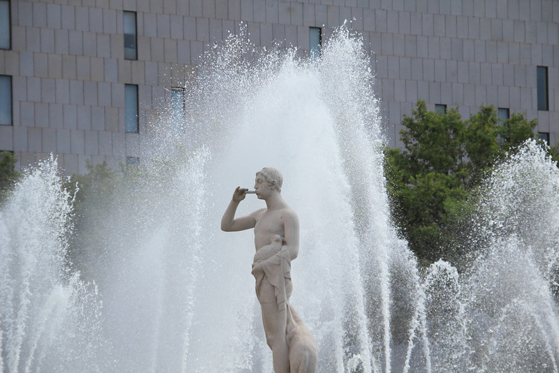 Fountains at Plaza Catalunya
