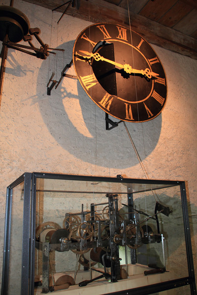 A clock which only ran the clock inside the tower. It was using modern motors to wind the rope up automatically, and a laser and electromagnet to make sure the pendulum was accurate.