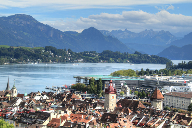 Lake Lucerne from the old town wall