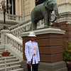 Guard in front of Chakri Maha Prasat Hall.