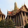 Left: Phra Mondop. Right: Prasat Phra Dhepbidorn (The Royal Pantheon).