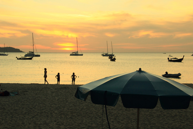 Sunset on Hat Farang Beach, Ko Mook