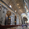 Inside the gigantic St. Peter's Basilica
