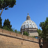 The dome as we walked around the Vatican City. It's the smallest country in the world, and we walked completely around it (not saying much, considering it's only about 2 miles in perimeter).