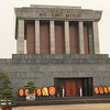 Ho Chi Minh's Mausoleum. He just wanted a simple cremation, but here he is, entombed and put on display!
