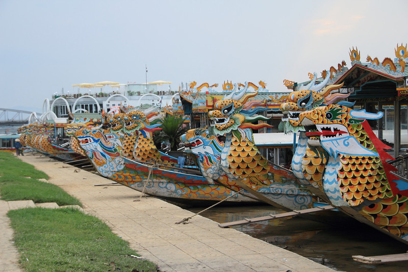 Dragon boats in the Perfume River