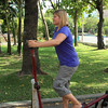 Getting a workout in the park