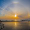 Sundog sunset - Cardiff Beach