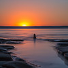 Meditation rocks at sunset - Beacon's Beach