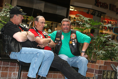 Tom Dredla of Scottsbluff (left) Ron Devier of Dalton (middle) Steve McLean (Right) to the Scottsbluff Monument Mall on Saturday.