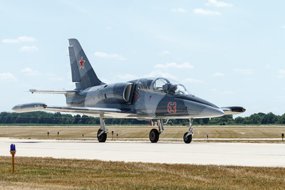 Russian, Aero L-39 Albatros a 60's high-performance jet trainer aircraft developed in Czechoslovakia