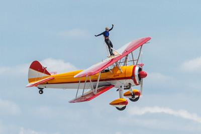 Stearman, owner Jane Wicker, wing walker