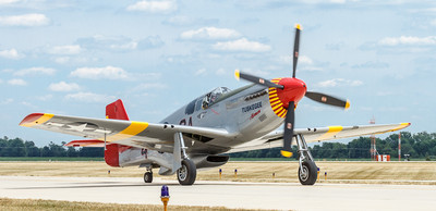 P-51C Mustang, Red Tail, flown by the Tuskegee Airmen WW II