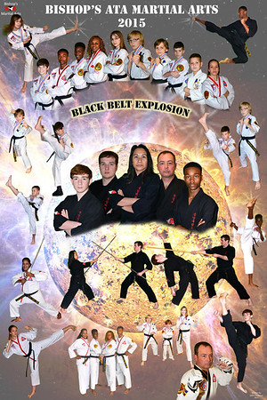 Bishop's ATA Black Belt Explosion stars
