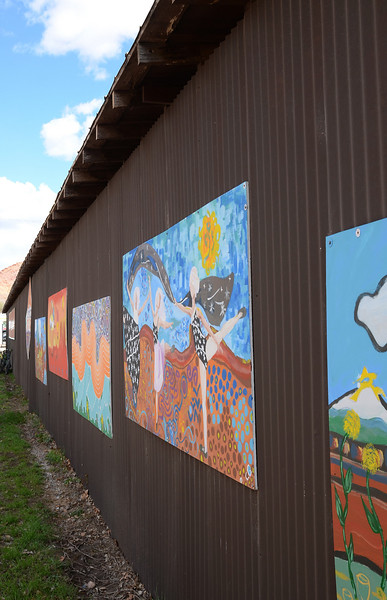 Children's art wall - Moab, Utah
