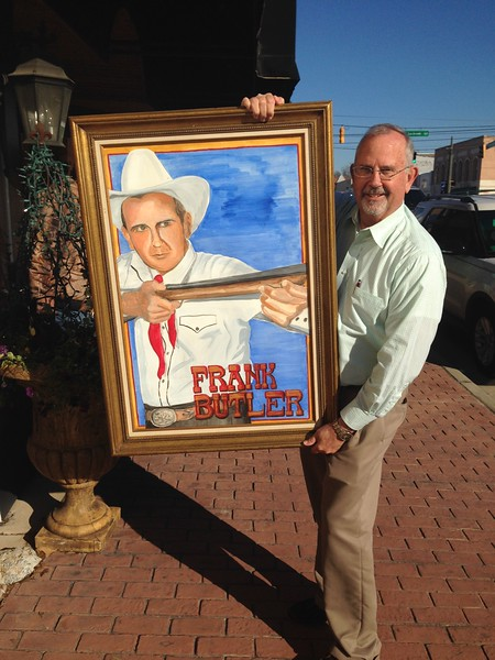 The Painting used in Annie Get Your Gun of Frank Butler by Verna Stone, Hawkinsville, GA
