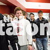 Eagles Football team walks down the hallway during send off at Argyle High School on 11/18/16 in Argyle , Texas. (Faith Stapleton/ The Talon News)