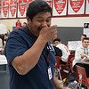 "Long time employee ""Janitor Joe"" celebrates his last day of work at the high school. (Jaclyn Harris / The Talon News)"