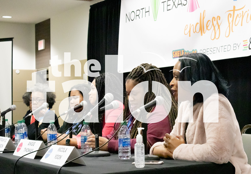 """Students attend the North Texas Teen Book Festival to hear """"Endless Stories"""" from their favorite authors on March 16, 2020.  (Gracie Hurst 
