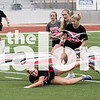 The Lady Seniors play against the Lady Juniors   in the Powder Puff game on May 1, 2018 at Argyle Highschool in Arglye, Texas, on May 1, 2018. (Quinn Calendine / The Talon News)