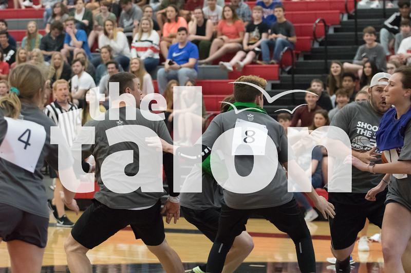 Eagles in Staff vs. Students basketball game  at Argyle High School  Argyle, TXApril 26, 2019. (Karina Navarro/ The Talon News)