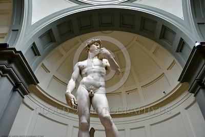 "STY-DAVID 004 A wide anglel view of Michelangelo's statue of ""David"", statue picture by Peter J  Mancus"