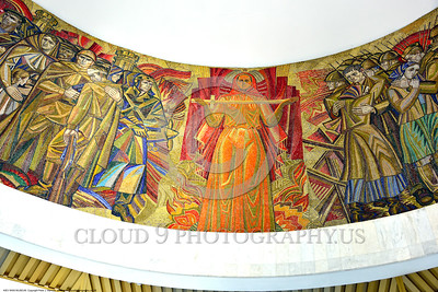 KIEV WWII MUSEUM 0005 Part of a large circular 360 degrees Soviet style mural in a World War II museum in Kiev, Ukraine, picture by Peter J  Mancus