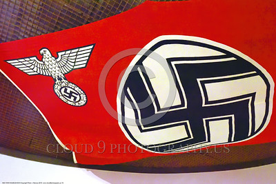 KIEV WWII MUSEUM 0010 A hated German World War II era Nazi flag in a Kiev, Ukraine World War II museum, picture by Peter J  Mancus